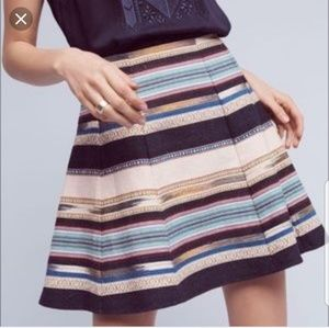 Anthropologie Chloe Oliver Hayley  woven skirt